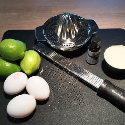 Ingredienser til citronfromage