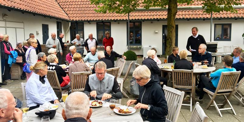 frokost efter turneringen i Gilleleje Golfklub