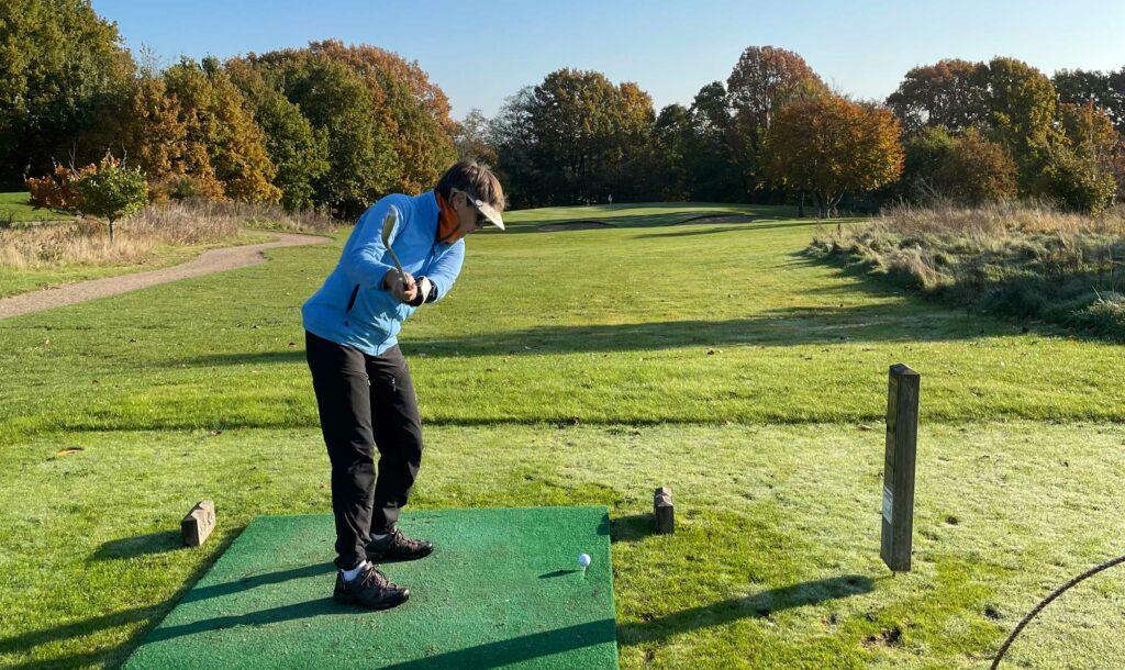 Janne Aarre hul 17 i Gilleleje Golfklub
